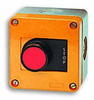 """Кнопочный пост 1-модульный - """"STOP"""" с подсв. JAC50000 (красный)"""