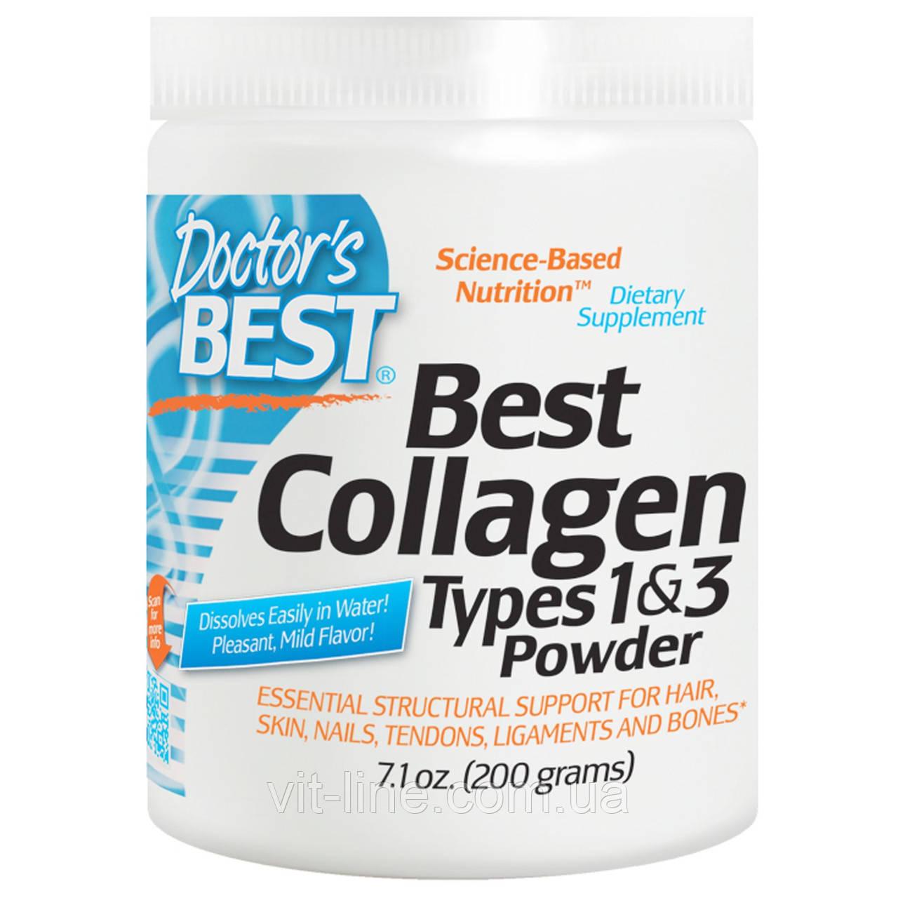 Колаген 1 і 3 тип від Doctor's s Best (порошок 200г)