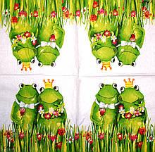 Серветки декупажні Закохані жаби 1617