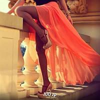 Женская шифоновая юбка спереди короче