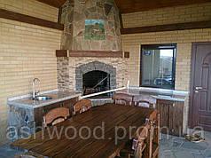 Стол деревянный фигурный/Стіл дерев'яний, фігурний
