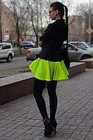 Женская короткая юбка шифоновая
