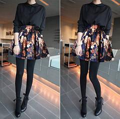 С чем носить юбки с цветочным принтом?