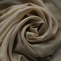 Тюль св. бежевая Вуаль, однотонная + высококачественный пошив