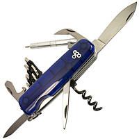 Нож швейцарский Ego tools IT.01 синий с набором бит, фото 1