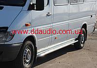 Боковые площадки Premium d50 (2 шт., нерж.) - Mercedes Sprinter (1995-2006)