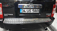 Накладка на задний бампер (нерж) - Dodge Nitro (2007+)
