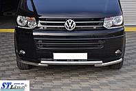 Нижняя губа ST009 Greyder (нерж) - Volkswagen T5 рестайлинг (2010-2015)