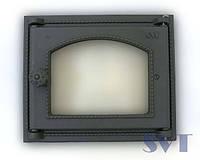 Дверца чугунная со стеклом SVT 451 250x230mm