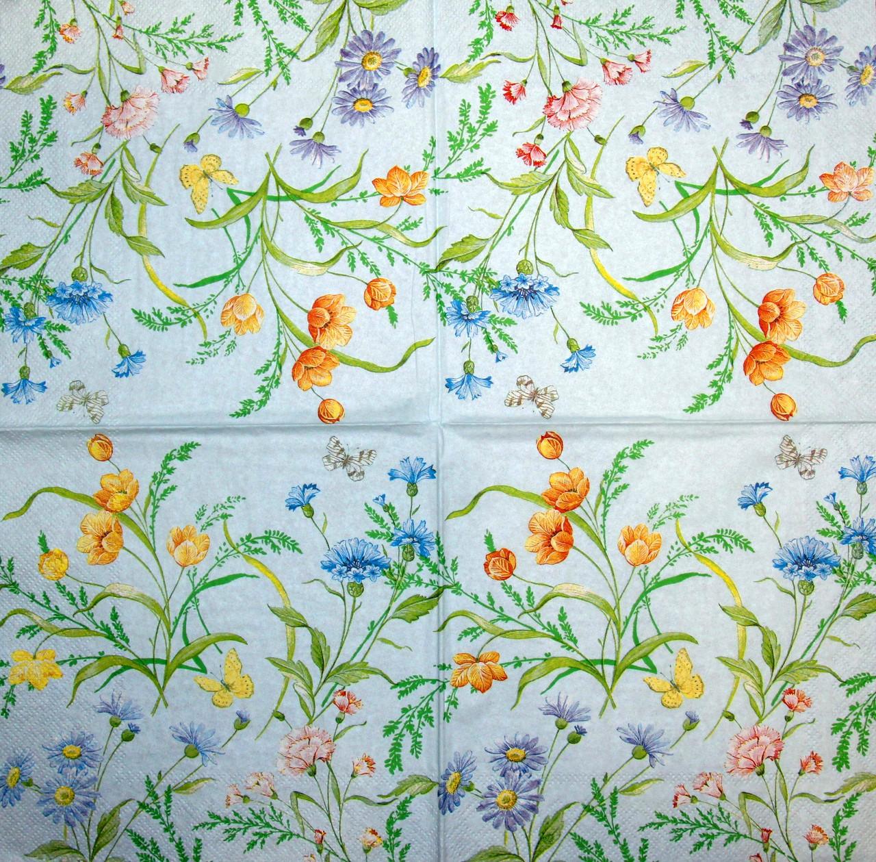 Салфетка декупажная Полевые цветы 1643