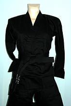 Кимоно для карате  MATSA, черное.