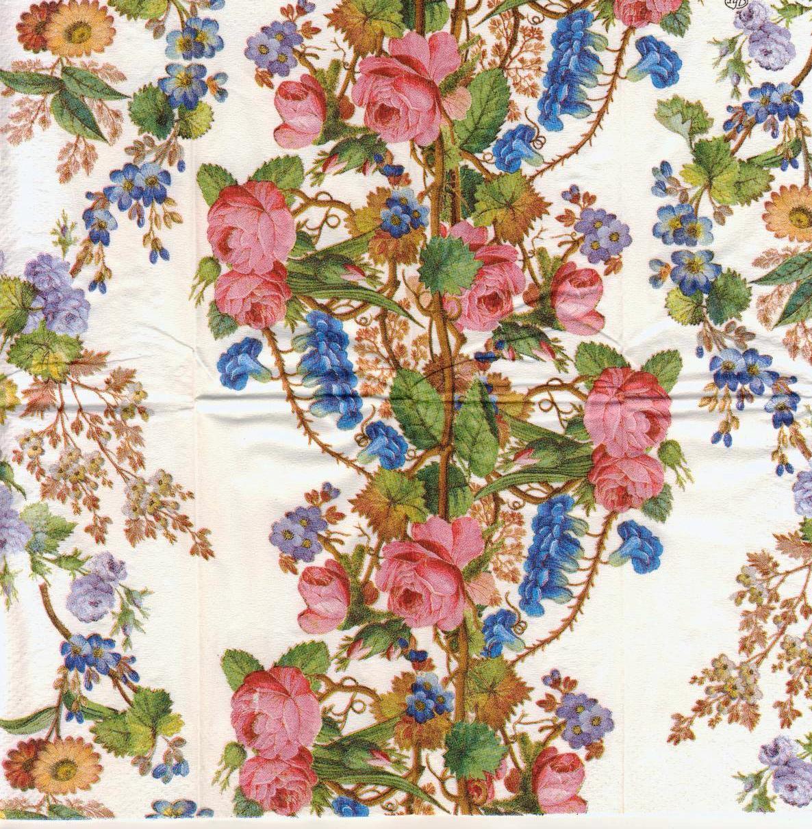 Декупажная салфетка Цветы 1686