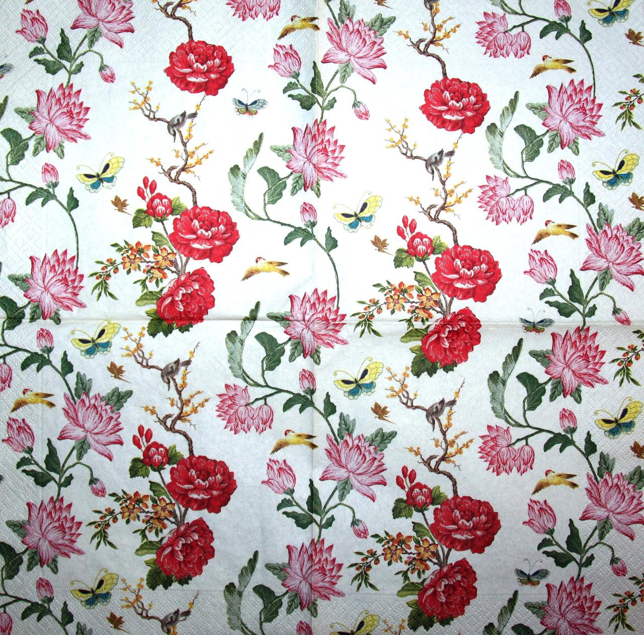 Декупажная салфетка Цветы 1691