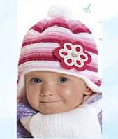 Шапка с шарфом зимняя для девочки, фото 1