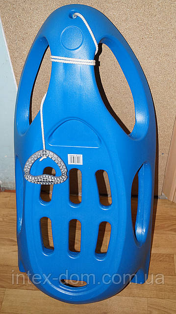 Санки MS 0525 жел полозья, синие
