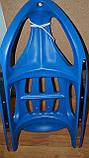 Санки MS 0525 жел полозья, синие, фото 2