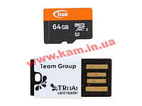 Team+Reader microSDXC 64Gb UHS-1 TR11A1 (TUSDX64GUHS29)