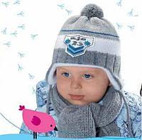 Шапка с шарфом зимняя для мальчика, фото 1