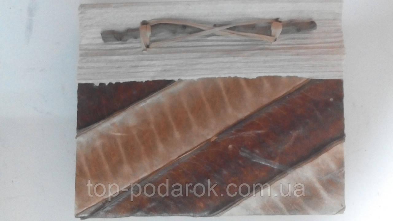Блокнот из натуральных листьев ручной работы