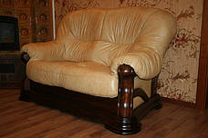 """Новый двухместный диван в коже """"Senator"""" бежевый (175см), фото 3"""