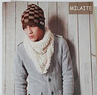 Шапка-шарф в стиле унисекс. 2 цвета
