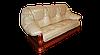 """Классический кожаный раскладной диван """"GRYZLI"""" Hup (220см), фото 2"""