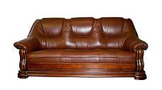 """Классический раскладной кожаный диван """"GRYZLI"""" Hup (220см), фото 2"""