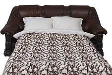 """Классический раскладной кожаный диван """"GRYZLI"""" Hup (220см), фото 3"""