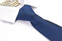 Яркий синий галстук