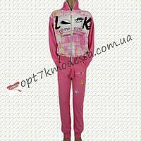 """Спорт костюм юниор для девочек с 8-12 лет """"Реснички"""" розовый"""