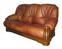 """Раскладной трехместный диван в коже """"Граф 4090"""""""