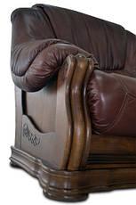 Двомісний шкіряний диван (Барон 4090), фото 3