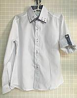 Детская рубашка школьная белая для мальчика