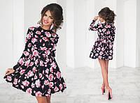 Красивое платье с розами 553 (1039), фото 1