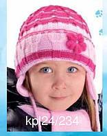 Комплект зимний: шапка и шарфик для девочки