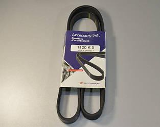 Поликлиновый ремень на Renault Trafic  2001->  1.9dCi (ALT, -AC) — Hutchinson - HH 5PK1120