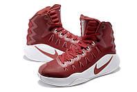 Баскетбольные кроссовки Nike Hyperdunk 2016 бордовые