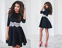 Красивое платье с кружевом в расцветках 553 (1042), фото 1