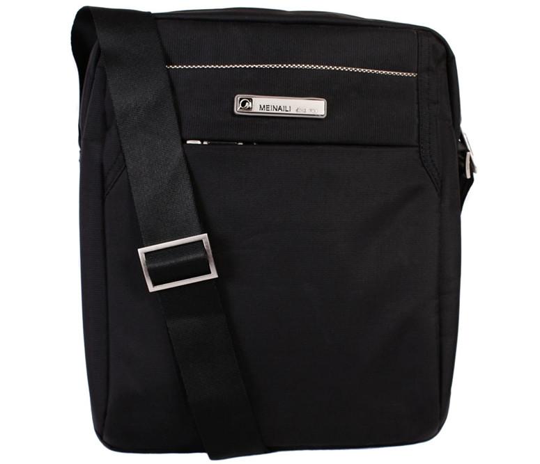 Мужская сумка из прочного текстиля MEINAILI 30804 Черная
