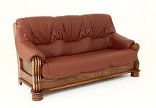 """Класичний розкладний шкіряний диван """"ADAM"""" (190см), фото 2"""