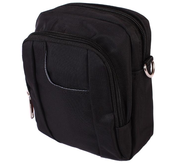 Стильная сумка через плечо и на поясной ремень Nobol 30810 Черная