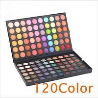 Палитра теней MAC120 цветов/матовые/мерцающие