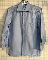 Детская школьная рубашка голубая для мальчика