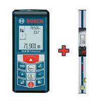 Лазерный дальномер Bosch GLM 80 + Направляющая шина Bosch R 60