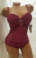Купальник слитный Римма 2360 бордовый идут на наши 46 48 50 52 размеры
