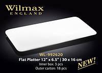 Блюдо плоское прямоугольное 30*16 Wilmax (Англия)