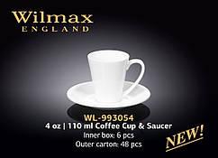 Чашка  кофейная с блюдцем 110 мл Wilmax (Англия)