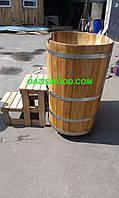 Купель овальная для бани и сауны 110х75х110см.