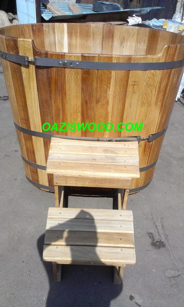 Купель деревянная из дуба