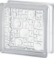 Стеклоблок бесцветный 1908/Sponge 19х19х8